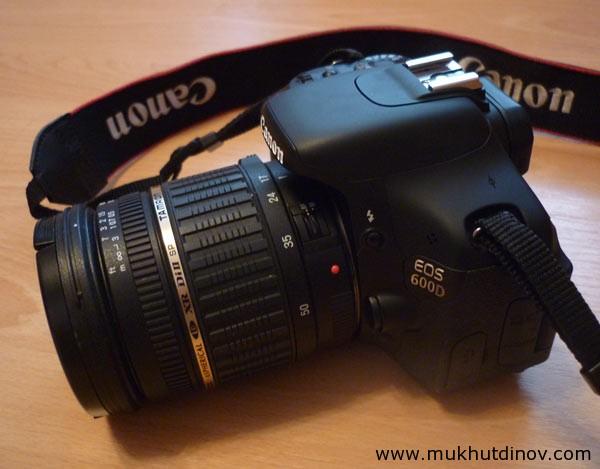 Canon 600D с объективом Tamron 17-50