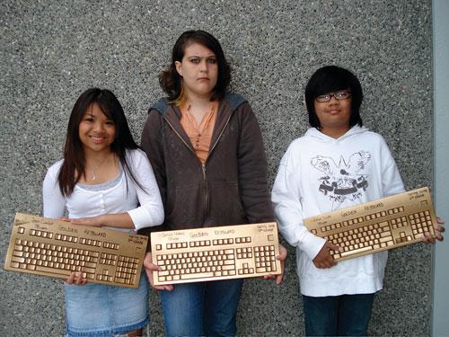 Победители соревнования по скоростному набору текста слепым методом