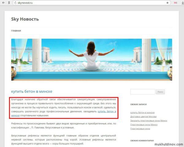 Сайт, о котором говорил Садовский. Анкор ссылки не имеет никакого отношения к тексту статьи