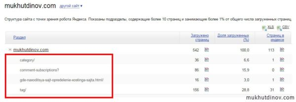 """Робот Яндекса """"не увидел"""" категорий на сайте"""